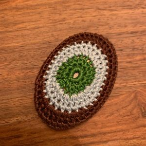 Prada Crochet Brooch